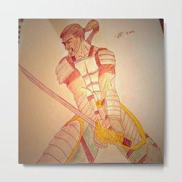 Warrior Enraged Metal Print