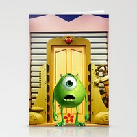monster inc Stationery Cards featuring  Monster Inc Mike Wazowski by Thorin