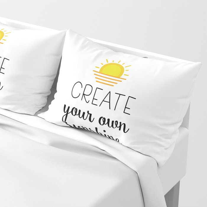 5f13c62c8 Create your own sunshine Pillow Sham by catmustache | Society6