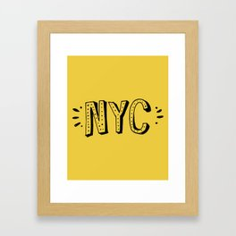 NYC lettering series: #2 Framed Art Print
