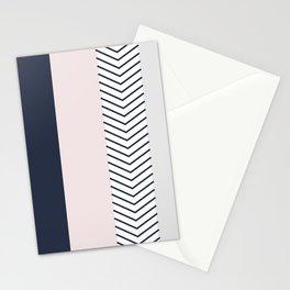Navy Blush and Grey Arrow Stationery Cards