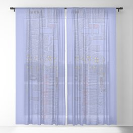 Stitches: City lines Sheer Curtain