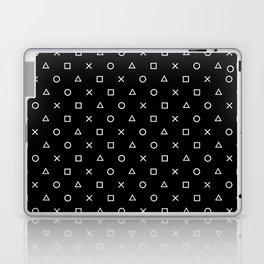 Gamer Pattern (White on Black) Laptop & iPad Skin