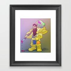 Deth Dwarf Framed Art Print