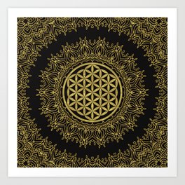 Flower Of Life Mandala Art Print