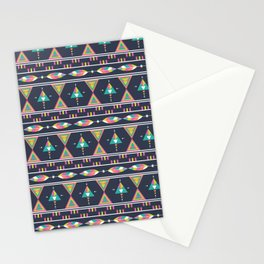 Ethnic geometric colorful aztec seamless pattern Stationery Cards