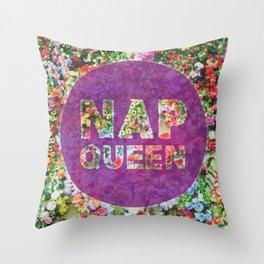 Nap Queen in Purple Throw Pillow