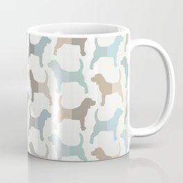 Beagle Silhouettes Pattern - Natural Colors Coffee Mug