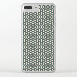 Circle Polka Dot Pattern 4, Night Watch, Cave Pearl Green Alpaca Wool Cream and Scarborough Green Clear iPhone Case