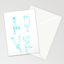 Blue Love Stationery Cards