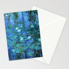 Claude Monet Water Lilies BLUE Stationery Cards