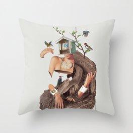 House No.18 Throw Pillow