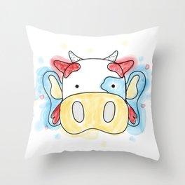 La Vaca Mariposa Throw Pillow