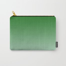 Green to Pastel Green Horizontal Linear Gradient Carry-All Pouch
