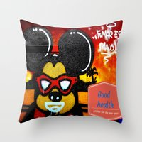 health Throw Pillows featuring Good health by Cristina Ortiz Photo