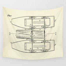 Pontoon Boat 01-1944 Wall Tapestry