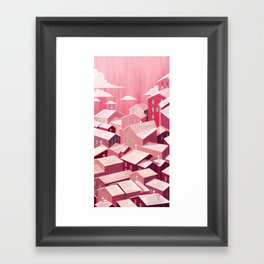 Pink city Framed Art Print