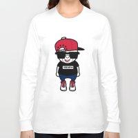 hiphop Long Sleeve T-shirts featuring 30Billion - Hiphop Bear 01 by 30Billion