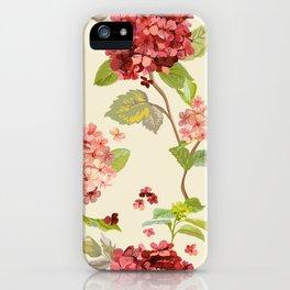 Fall Hydrangeas, Floral Print iPhone Case