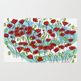 Field Poppies Rug