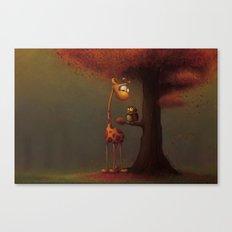 Autumn Giraffe Canvas Print