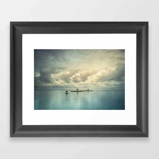 the art of silence Framed Art Print