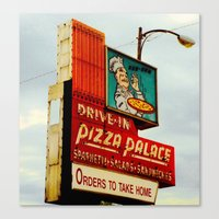 pizza Canvas Prints featuring Pizza by Hazel Bellhop