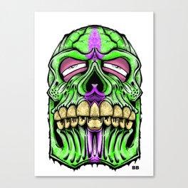 fat head skull Canvas Print