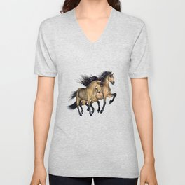 HORSES - The Buckskins Unisex V-Neck