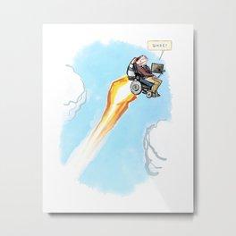 Stephen Hawking - Whee! Metal Print