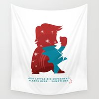 superhero Wall Tapestries featuring Our little-big superhero by Miss Hendry