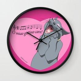 Soprano cat Wall Clock