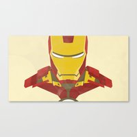 iron man Canvas Prints featuring IRON MAN by LindseyCowley