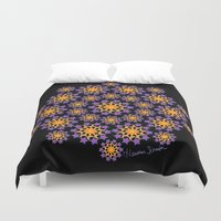 sun and moon Duvet Covers featuring Sun, Moon and Stars by artsytoocreations