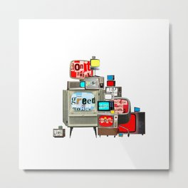 atmosphere · use your brain Metal Print