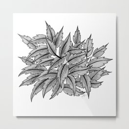 Random Leaves Metal Print