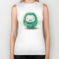 bmo Biker Tanks featuring Daruma: BMO by Monstruonauta