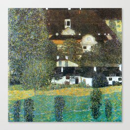 "Gustav Klimt ""Schloss Kammer on the Attersee II"" Canvas Print"