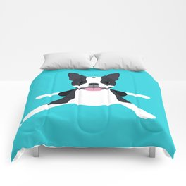 boston terrier Comforters