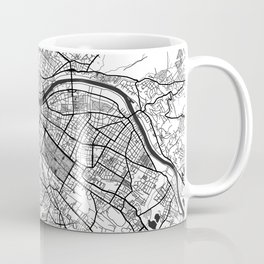 Dresden Map Gray Coffee Mug