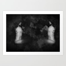 To Be Or Not To Be Blk&White Grunge  Art Print