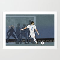 ronaldo Art Prints featuring Ronaldo by Ricca Design Co.