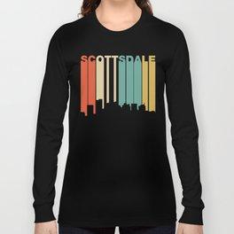 Retro 1970's Style Scottsdale Arizona Skyline Long Sleeve T-shirt