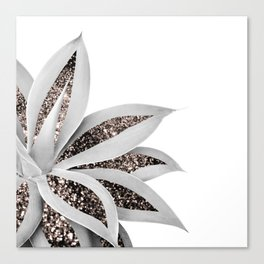 Agave Finesse Glitter Glam #1 #tropical #decor #art #society6 Canvas Print