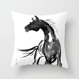 Horse (Ink sketch) Throw Pillow