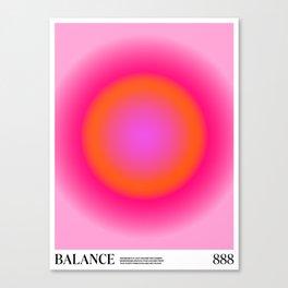 Gradient Angel Numbers: Balance Canvas Print