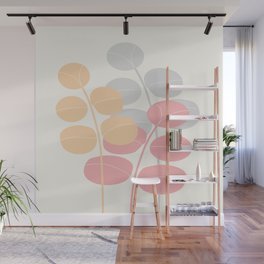 Pastel Leaves   #Society6 #decor #buyart Wall Mural