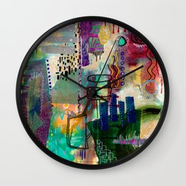 Planets and Books and Cities Wall Clock