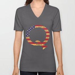 Qanon The Great Awakening MAGA USA WWG1WGA Declaration of Independence Shirt Unisex V-Neck