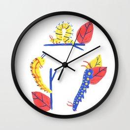 Caterpillars Wall Clock